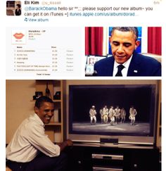 Eli finally did it....XD.                    I'm not sure this is real but if it is OMG Obama if a cool president