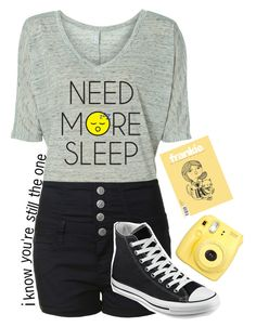 """tmh series pt. 14"" by c-astaway ❤ liked on Polyvore featuring Glamorous, Converse and kikitags"