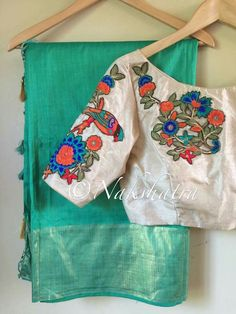 Blouse Designs Silk, Saree Blouse Patterns, Work Blouse, Indian Designer Wear, Saree Collection, Embroidered Blouse, Ethnic, Honey, Clothes