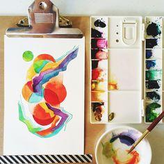 06/30 #calligrafikas #watercolor #holbeinwatercolors