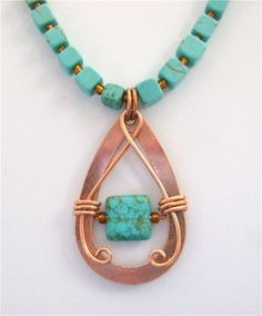9 step copper pendant necklace