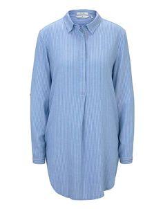 Bluse in längerem Schnitt mit Kent-Kragen | TOM TAILOR | ADLER Mode Onlineshop Toms, Tom Tailor, Shirt Dress, Mens Tops, Shirts, Dresses, Fashion, Eagle, Light Blue