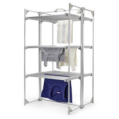 Dry-Soon Deluxe 3 Tier Heated Airer | Electric Clothes Airers | Lakeland Heated Clothes Airer, Clothes Dryer, Clothes Line, Drying Rack Laundry, Stow Away, Flat Interior, Steel Wall, How To Level Ground, Outdoor Outfit