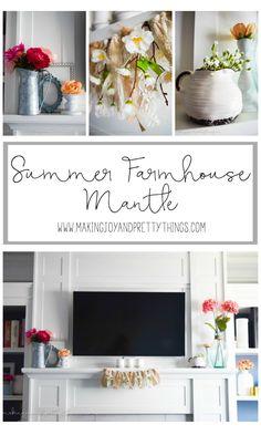 Summer Farmhouse Mantle -
