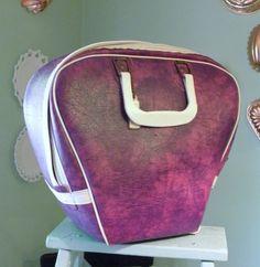 Purple Vintage Tote Bowling Bag Vegan By Sugarcookielady 20 00 Bags Golf Ball
