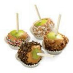 Bite-size caramel apples....kid-friendly