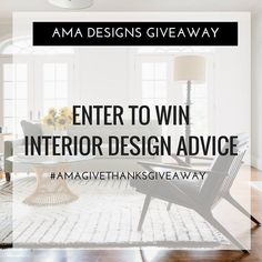 [ENTER TO WIN] For the first time ever AMA DESIGNS is giving away FREE DESIGN ADVICE to ONE lucky Instagram follower! It has been a great year for AMA Designs. I am so thankful for all the amazing opportunities and people that I had the pleasure of working with this year. To show my appreciation I wanted to host a giveaway to continue to spread the love!  The #AMAgivethanksgiveaway will be starting on November 19th and will end on Thursday November 24th. The Winner will be announced on…