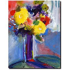 @Overstock - Artist: Sheila Golden  Title: Cobalt Vase  Product Type: Gallery-wrapped canvas art--ready to hang  http://www.overstock.com/Home-Garden/Sheila-Golden-Cobalt-Vase-Gallery-wrapped-Canvas-Art/4395511/product.html?CID=214117 $56.99