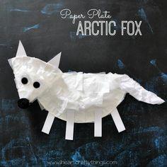DIY Children's : DIY Paper Plate Arctic Fox Craft for Kids