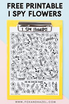 This fun and flower-fillled free printable I spy sheet is perfect for spring! Print, search and have fun playing I Spy! Spring Activities, Activities For Kids, Printable Designs, Free Printables, Freebies, Patterned Sheets, I Spy, Activity Sheets, Summer Crafts