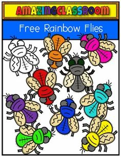 Rainbow Flies Freebie