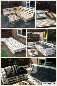 My own handmade palletsofa! I'm very proud of how it turned out :)