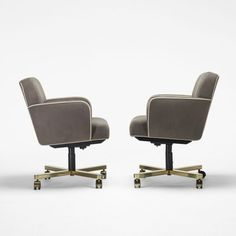American  office chairs, pair