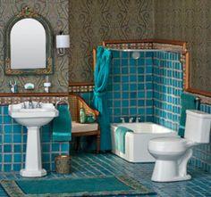 1920s Art Deco Bathroom in miniature this board: MIniature bathrooms, lots of ideas