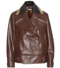 mytheresa.com -  Leather jacket - Luxury Fashion for Women / Designer clothing, shoes, bags