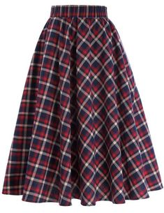 8d20bb2059720f vintage Women High Waist Skirt Vintage 50s Retro Swing Plaid Cotton Skirts  A-line Midi skirt. Halflange RokkenTutu sZomerse RokkenHerfst ...