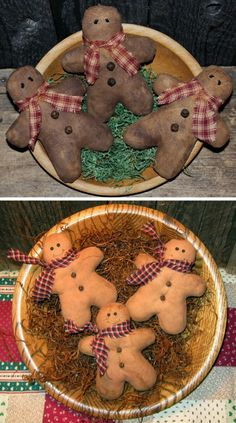 Gingerbread Men Tucks EPATTERN