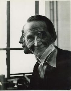 Victor Obstaz, Portrait of Marcel Duchamp, 1953, Gelatin silver print, 13½ x 10½ in. (34.3 x 26.7cm), Titled, signed and dated on verso.