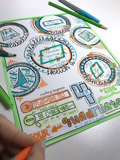 Free Download - Quadrilaterals doodle note set