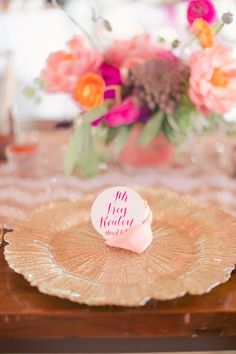 Gold and pink details: http://www.stylemepretty.com/2014/11/10/whimsical-dallas-loft-wedding/ | Photography: Nbarrett - http://nbarrettphotography.com/
