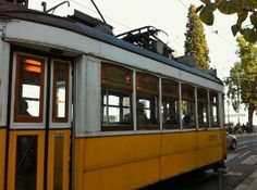 Lisbon, Portugal's iconic yellow tram.
