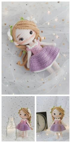 Amigurumi Rose Doll Free Pattern – Amigurumi Free Patterns And Tutorials Amigurumi Rose Doll Free Pattern – Kostenlose Amigurumi-Anleitungen und Anleitungen Doll Patterns Free, Crochet Disney, Crochet Amigurumi Free Patterns, Kawaii Crochet, Crochet Geek, Crochet Beanie, Crochet Doll Tutorial, Amigurumi Doll, Stuffed Toys Patterns