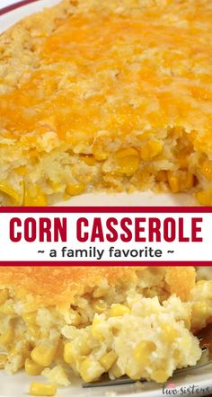 Our Corn Casserole recipe is a family favorite Easter food side dish - this swee. - Our Corn Casserole recipe is a family favorite Easter food side dish – this sweet-savory, corn br - Easter Recipes, Easter Food, Birthday Recipes, Easter Dinner, Thanksgiving Dinner Recipes, Corn Thanksgiving, Easy Thanksgiving Sides, Christmas Dinner Sides, Thanksgiving Casserole