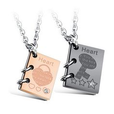 "Find More Pendant Necklaces Information about Romantic ""Love Story"" Pendant…"