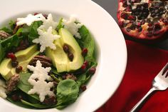 One of my favorite (and certainly healthiest) Christmas food traditions is this salad withpretty little jicama snowflakes. It's a perfect festive starter for a holiday dinner party or Christm…
