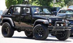 David Beckham's JEEP Wrangler Unlimited! I don't know what I want more....Beckham or his car!!! #Jeep