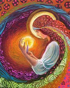 Incantation d'une prêtresse gitane Print Art par EmilyBalivet