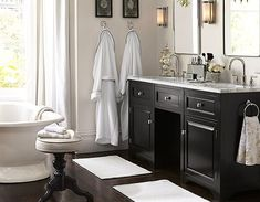 Hand towel placement, his n hers robe hooks, bath mats, stool and accessories