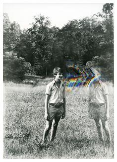 'Background Noise' by Ben Alper (b. New York - glitch art Glitch Kunst, Glitch Art, Psy Art, Black White, Background Noise, Jolie Photo, Double Exposure, Trippy, Art Photography