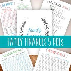 INSTANT DOWNLOAD family binder finances budget bills management household organizer planner printable diy digital pdf