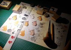 stempel_schnitzen Stamping, Wood Carvings