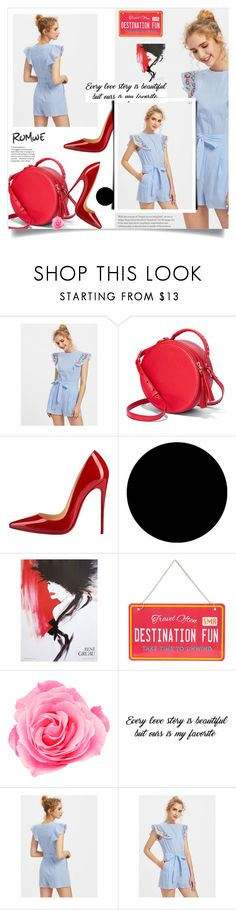 """""""Untitled #1783"""" by kriz-nambikatt ❤ liked on Polyvore featuring Christian Louboutin and Wall Pops!"""