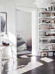 my scandinavian home: A striking yet calm monochromatic Swedish home