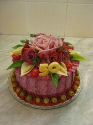 Sandwich Cake, Sandwiches, Food Displays, Food Art, Cake Decorating, Food And Drink, Menu, Cooking, Roll Up Sandwiches