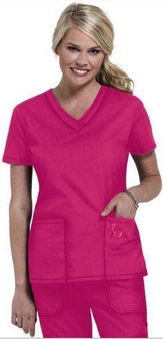 a5172a48d43 Image result for hot pink scrub tops Medical Scrubs, Nurse Scrubs, Lab  Coats,
