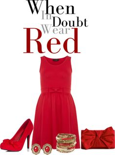"""RED!!!"" by musicfriend1 ❤ liked on Polyvore"