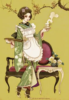 Art by Hiromi Matsuo Art And Illustration, Illustrations And Posters, Anime Kimono, Yukata, Manga Art, Anime Manga, Kalluto Zoldyck, Theme Nature, Grafiti