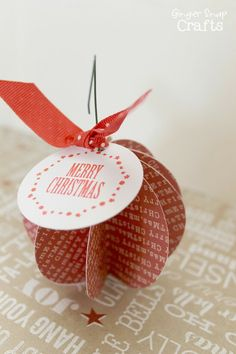 Easy Paper Ornament - Ginger Snap Crafts