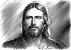 Jesus Sketches Pencil Jc05 - jesus christ pencil