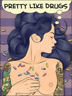 Real Sleeping Beauty Art Print : Matt Edwards