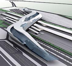 Zaha Hadid - High speed train station, Afragola, Italy