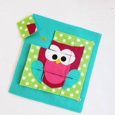 Hooty - a single page to add to your custom book! Have fun learning by putting this fun, colorful puzzle together! Colors are customizable! Each puzzle piece is attached to the page with Velcro. Quiet Books are a great way to keep your little ones occupied and learning during church, doctors appointments, traveling, or anywhere you need to keep your children quietly entertained! Unique and thoughtful gift idea! Expand and change your book with your child as they learn and grow! Choose any…