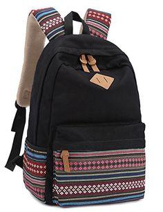Leaper Causal Style Lightweight Canvas Laptop Bag/Cute backpacks/ Shoulder Bag/ School Backpack/ Travel Bag - Listing price: $42.99 Now: $20.35