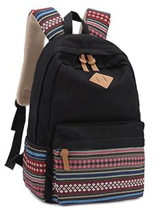 Leaper Causal Style Lightweight Canvas Laptop Bag/Cute backpacks/ Shoulder Bag/ School Backpack/ Travel Bag - Listing price: $42.99 Now: $20.35