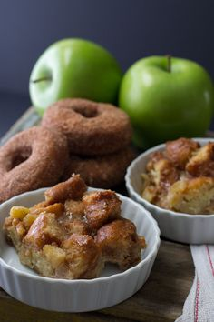 Apple Cinnamon Doughnut Bread Pudding with Maple Butter Rum Sauce ...
