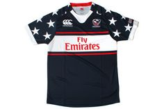 USA Eagles 2013/14 Alternate 7s Pro Rugby Shirt Navy